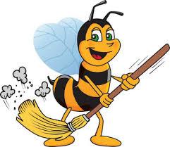 شغالة نحل العسل هي عاملة النظافة في طائفتها