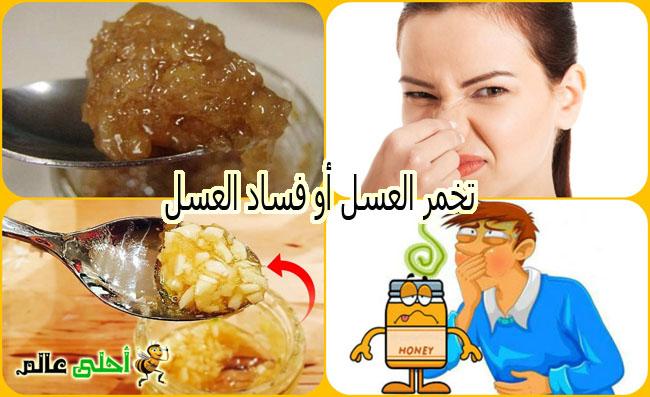 تخمر العسل أو العسل الفاسد من مواصفات العسل غير المستحبة
