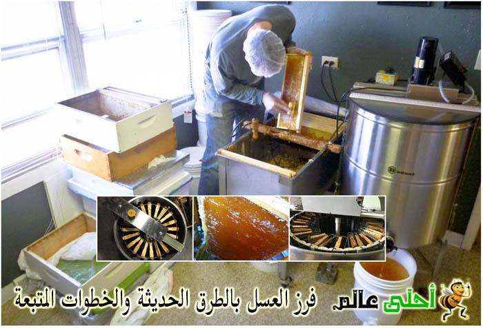 طرق فرز العسل, فرز العسل المتطور, العسل, استخراج العسل, عسل,فرز العسل ,طرق فرز العسل الحديثة ,خطوات فرز العسل, موقع نحلة, احلى عالم